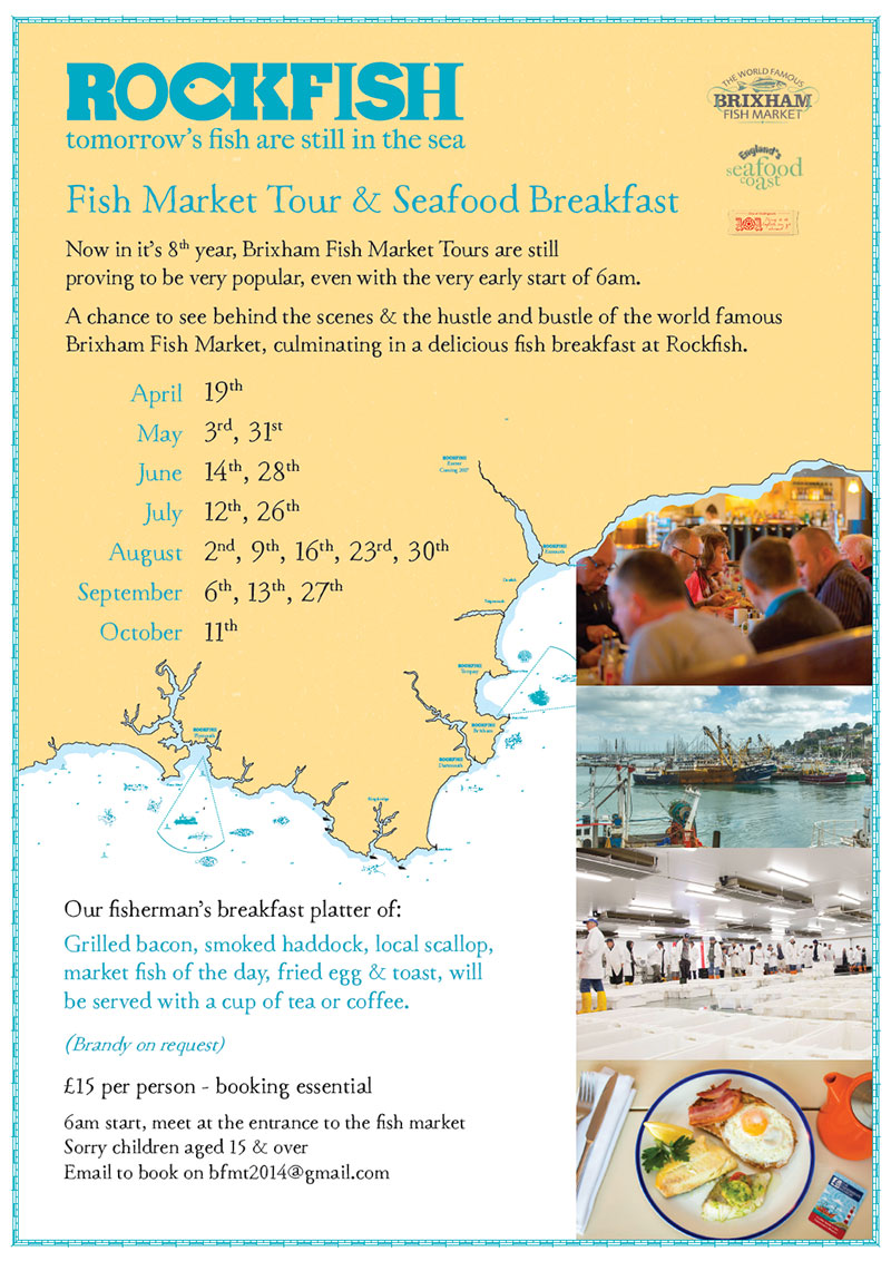 This Poster Helps Promote A Partnership Rockfish Have With The Fish Market Its Brixham Restaurant Is Next To It Picks Up On Styles From Main Menu